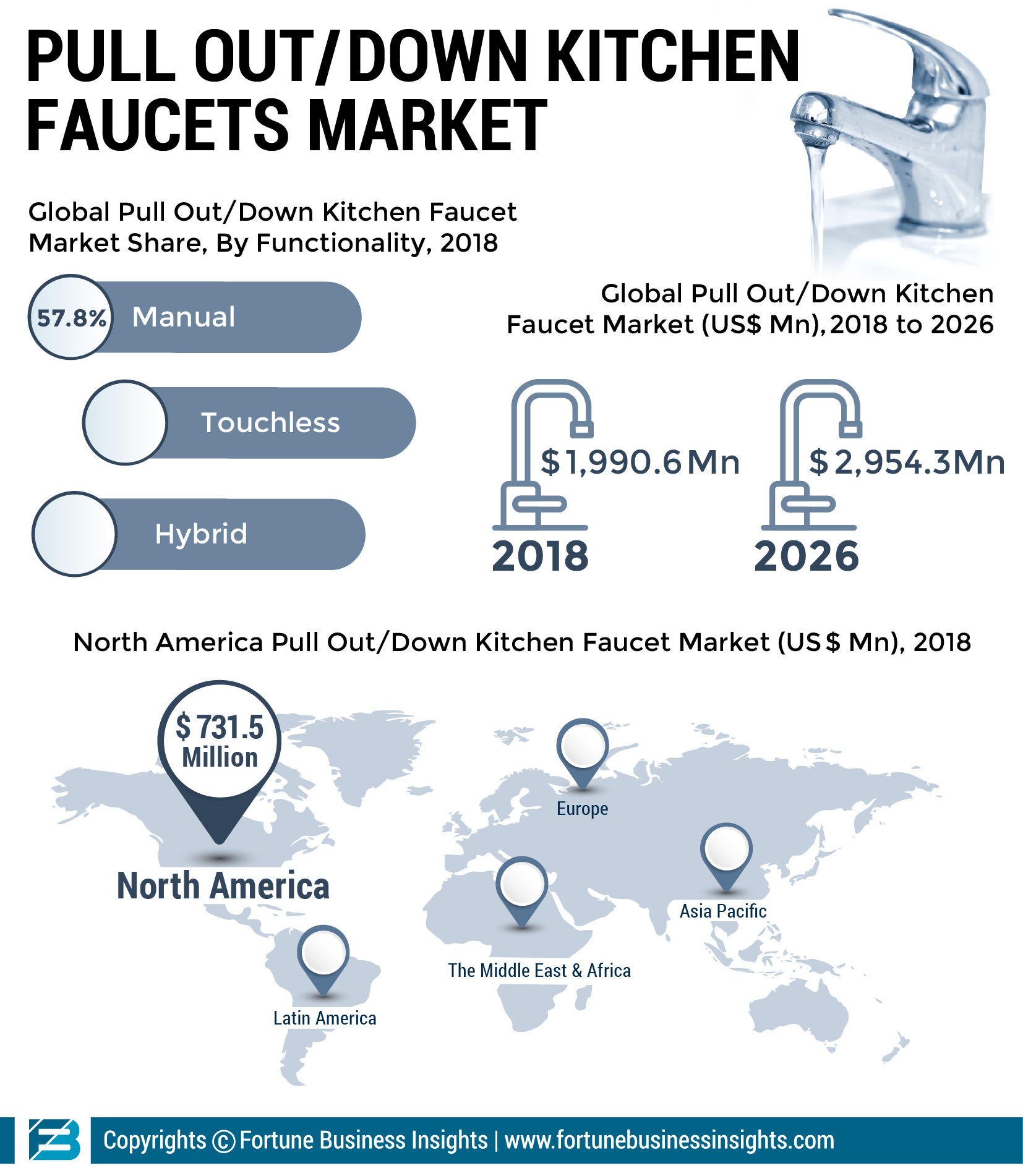 Infographics Pull Out And Down Kitchen Faucet Market